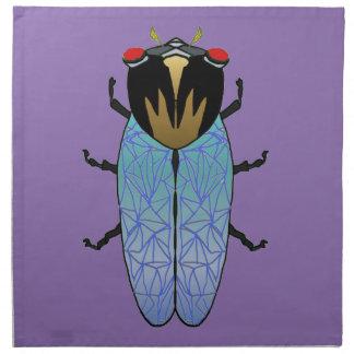 Niedliche schwarze Zikade Serviette