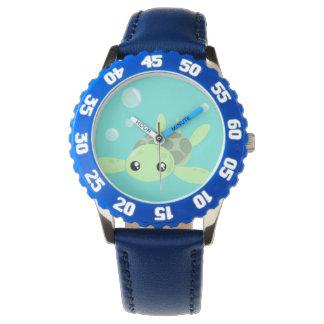 Niedliche Seeschildkröte-Uhr Armbanduhr