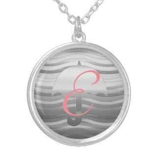 Niedliche silberne Regenschirm-Halskette Versilberte Kette