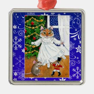 Niedliche Silbernes Ornament