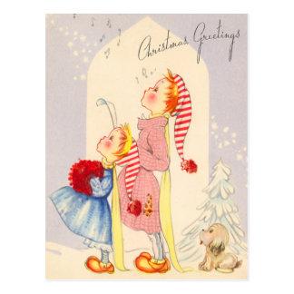 Niedliche singenweihnachtsCarolers Postkarte