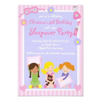 Niedliche Sleepover-Geburtstags-Party Einladungen