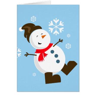 Niedliche Snowman-Karte Grußkarte