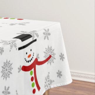 Niedliche Snowman-und Tischdecke