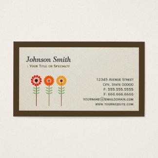 Niedliche Sonnenblumen - modernes stilvolles Visitenkarten