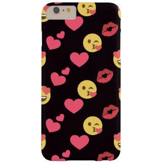 niedliche süße emoji Liebeherzen küssen Barely There iPhone 6 Plus Hülle