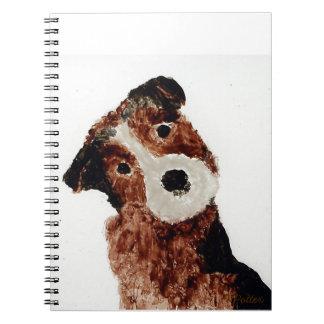 Niedliche Terrier-Hundekunst Spiral Notizblock