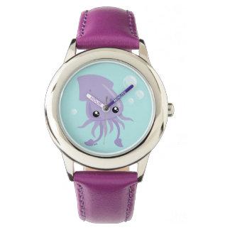 Niedliche Tintenfisch-Uhr Uhr