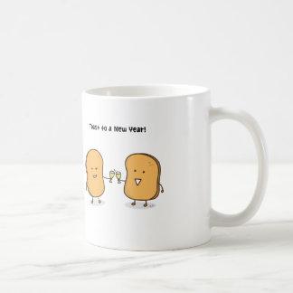 Niedliche Toast zu einem nagelneuen Jahr Kaffeetasse