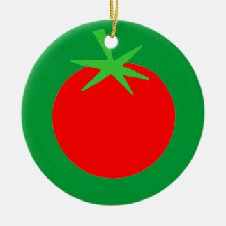 Niedliche Tomate-Gärtner-Weihnachtsbaum-Verzierung