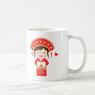 Niedliche traditioneller Chinese-Hochzeits-Braut Kaffeetasse