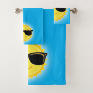 Niedliche tragende Sonnenbrillen Sun Badhandtuch Set