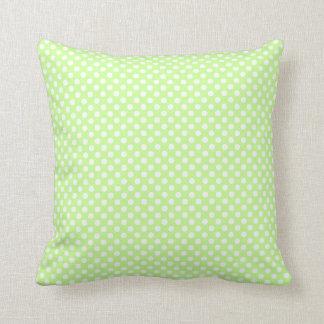 Niedliche Trendy grüne weiße Polkapunkte PLdesign Kissen