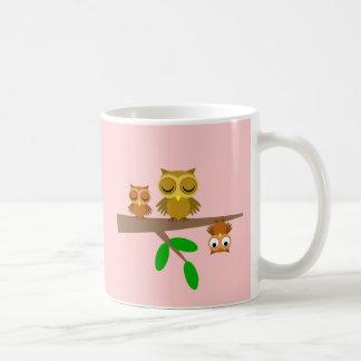niedliche und lustige Eulen Kaffeetasse