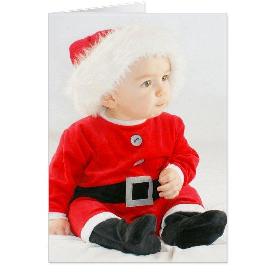 Niedliche und lustige Weihnachtskarte - Baby Grußkarte