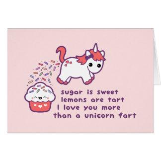Niedliche Unicorn-Furz Grußkarte
