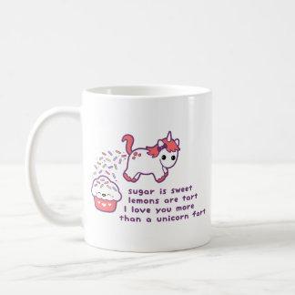 Niedliche Unicorn-Furz Tasse