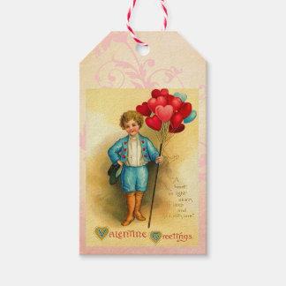 Niedliche Valentine-Ballon-Grüße, die Karten Geschenkanhänger
