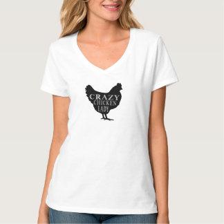 Niedliche verrückte Huhn-Dame Shirts