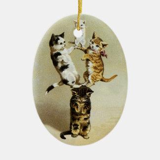 Niedliche Vintage viktorianische spielende Keramik Ornament