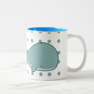 Niedliche Wal-Tasse Zweifarbige Tasse