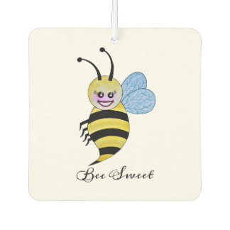 Niedliche Watercolor-Biene mit glücklichem Lächeln Lufterfrischer
