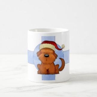 Niedliche WeihnachtshundeTasse - Hund im Weihnacht Tasse