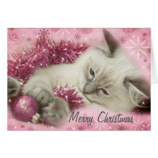 niedliche Weihnachtskarte Karte
