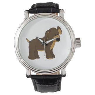 Niedliche Welpen-Uhr Uhr