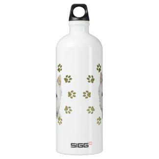 Niedliche Westie Hundekunst und -tatzen Wasserflasche