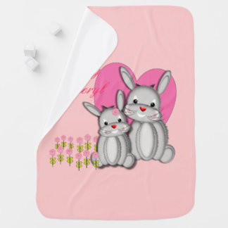 Niedliche wunderliche Baby-Häschen-Kaninchen Kinderwagendecke