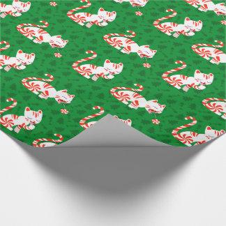 Niedliche Zuckerstange-Katze Geschenkpapier