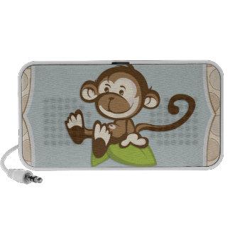 Niedlicher Affe auf einem Blatt-Lautsprecher