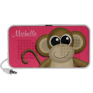 Niedlicher Affe-personalisierter Beeren-Gekritzel- Mini Speaker