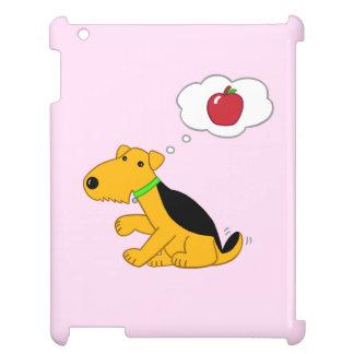 Niedlicher Airedale-Hund, der an Apple iPad Fall iPad Hülle