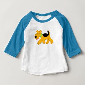 Niedlicher Airedale-Terrier-Hunderaglan-Baby-T - Baby T-shirt