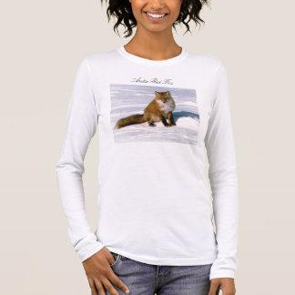 Niedlicher arktischer roter langer Hülsen-T - Langarm T-Shirt