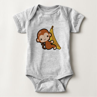 Niedlicher Baby-AffeWhit eine Banane Baby Strampler