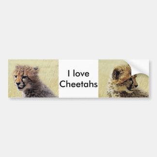 Niedlicher Baby Cheetah CUB Autoaufkleber