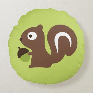 Niedlicher Baby-Eichhörnchen-Entwurf Rundes Kissen