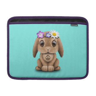 Niedlicher Baby-HäschenHippie MacBook Air Sleeve