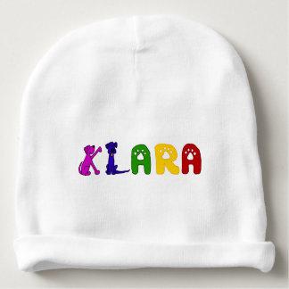 Niedlicher Baby-Hut mit Klara Namen Babymütze