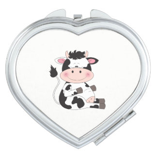 Niedlicher Baby-Kuh-Cartoon Schminkspiegel