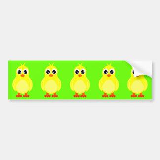 Niedlicher Baby-Küken-Cartoon Auto Sticker