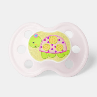 Niedlicher Baby-Mädchen-Schildkröte-Schnuller Schnuller