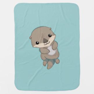 Niedlicher Baby-Otter-Welpe Kinderwagendecke