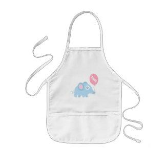 Niedlicher Babyblauelefant mit Ballon für Kinder Kinderschürze
