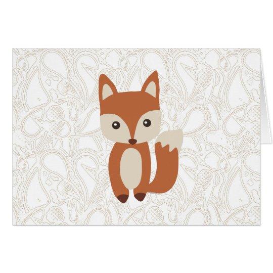 Niedlicher BabyFox Grußkarte