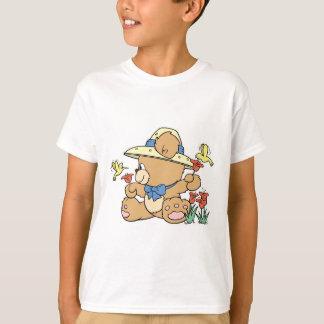 Niedlicher Bär und Kolibris T-Shirt