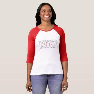 Niedlicher Baseball-Mamma-Herzballpark-T - Shirt